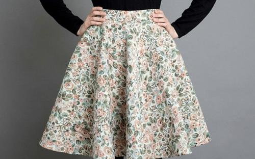 юбка полусолнце в цветочек