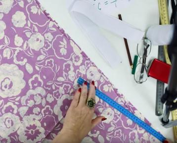 отмеряем линию талии на юбке
