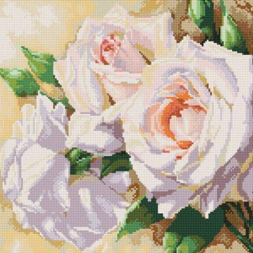 Розы в алмазной мозаике