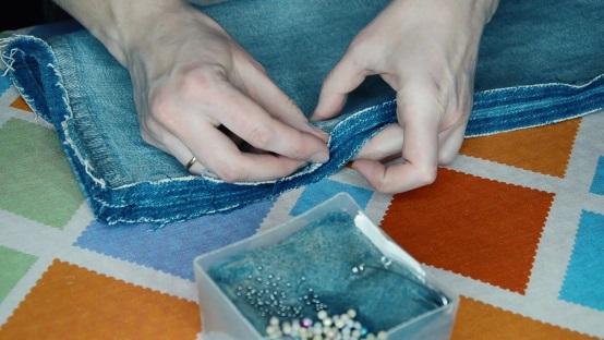 Совмещаем срезы внутреннего бокового шва