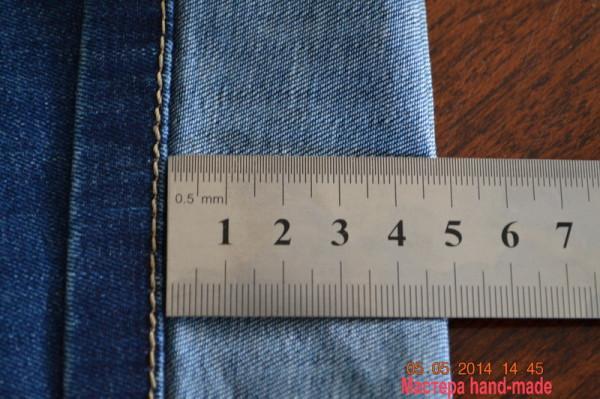 укоротить джинсы