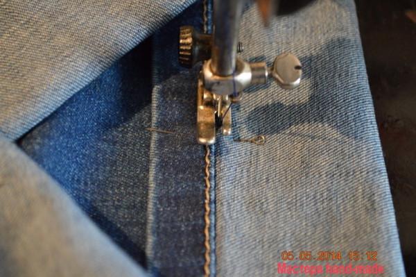 подшить джинсы