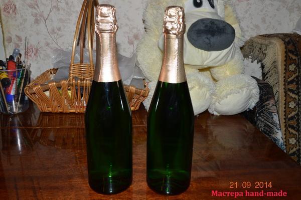Cвадебное шампанское своими руками