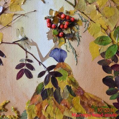 из осенних листьев
