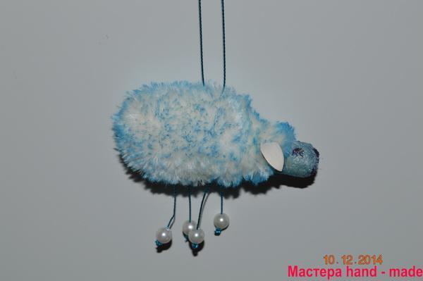 Делаем овечка – игрушка, на елку.