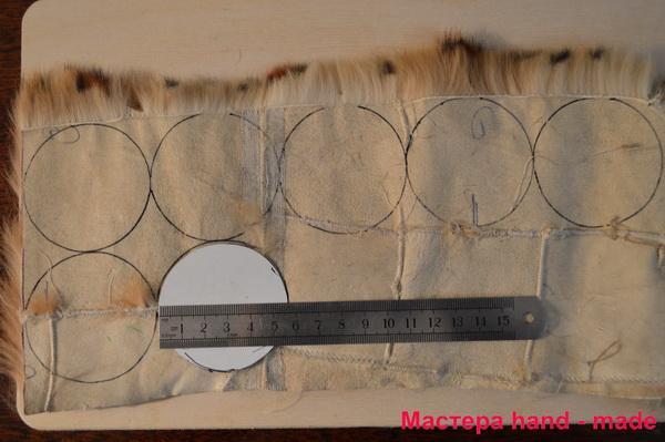 Меховая резинка для волос,