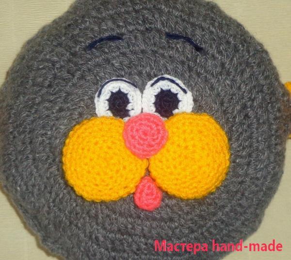 подушка – игрушка крючком