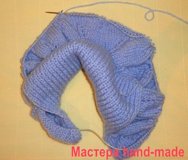 Вязание узора на манишке.