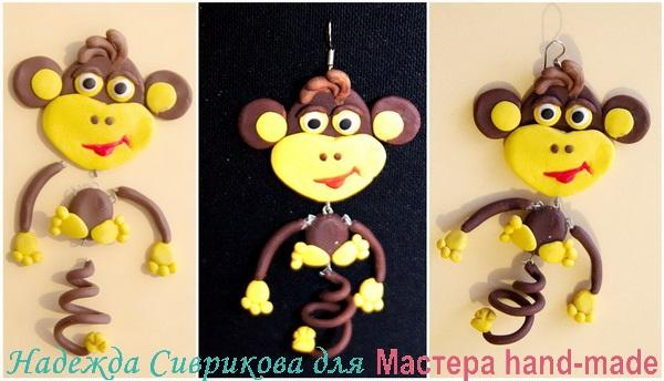 Серьги - обезьянки