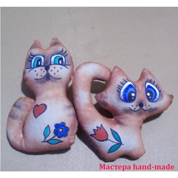 Кофейные игрушки из ткани – котята, своими руками