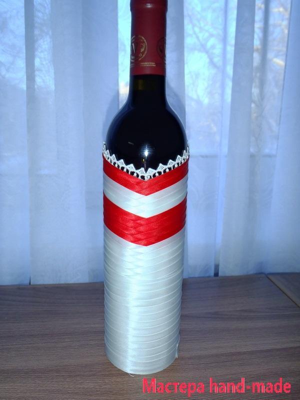 украсить бутылку