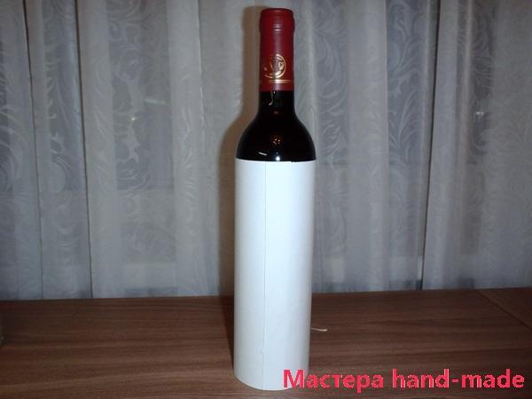Украшаем бутылку вина