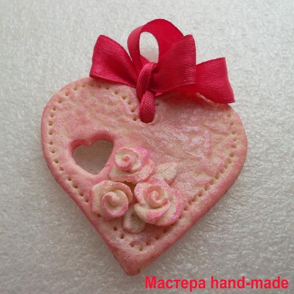 Валентинка – сердечко из солёного теста, своими руками