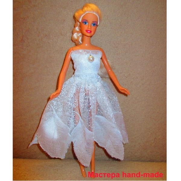 Шьем платье для куклы Барби своими руками
