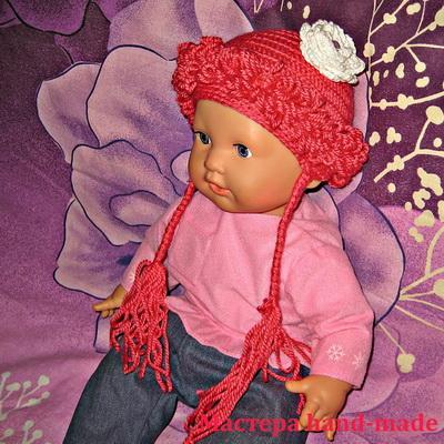 Детская шапочка – парик крючком, 1 часть
