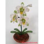 Орхидея из бисера – схема плетения орхидеи, 1 часть
