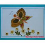 Аппликация из листьев – Бабочка, поделки с детьми