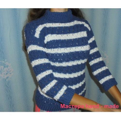 Как связать женский свитер спицами, мастер-класс