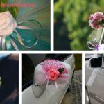 Бутоньерка для  свадебной машины своими руками