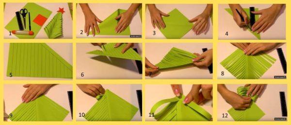 Елочка своими руками из бумаги 1