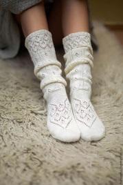 Ажурные носочки с длинным голенищем