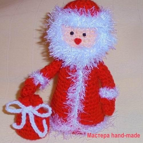 Дед Мороз – крючком, схема вязания с фото