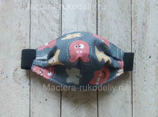 Детская медицинская маска с пришитой резинкой - многоразовая