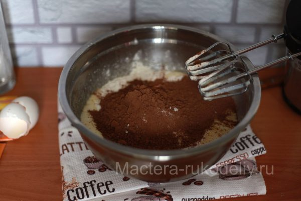 Какао добавить в тесто для кекса