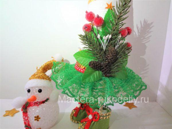 Елочка и снеговичок