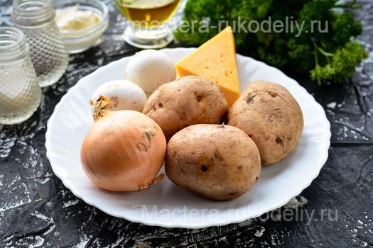 Лодочки из картофеля с грибами - ингредиенты
