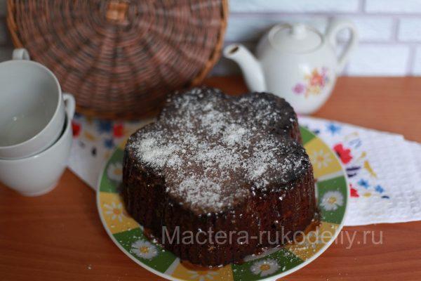 Кекс на кефире пд шоколадной глазурью
