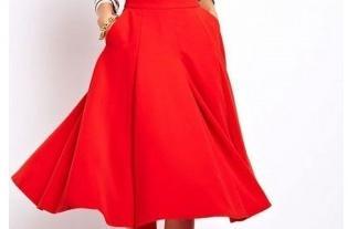 как сшить красную юбку полусолнце