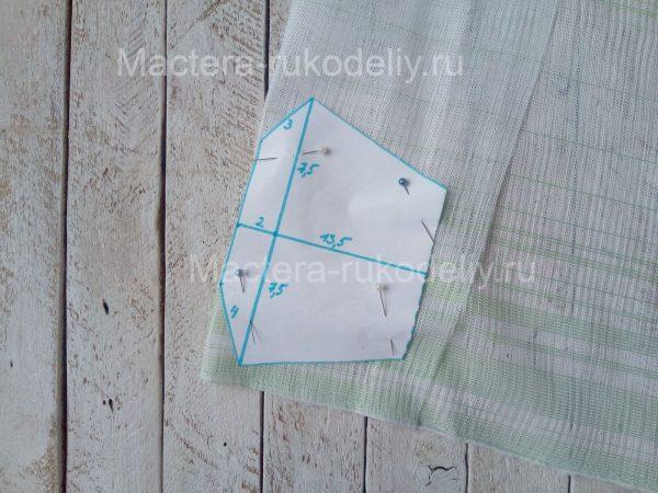 Выкройка на сетке для многоразовой медицинской маски