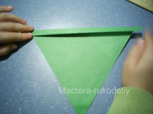 заложить складочки на треугольнике