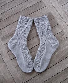 Носочки ажурные серые