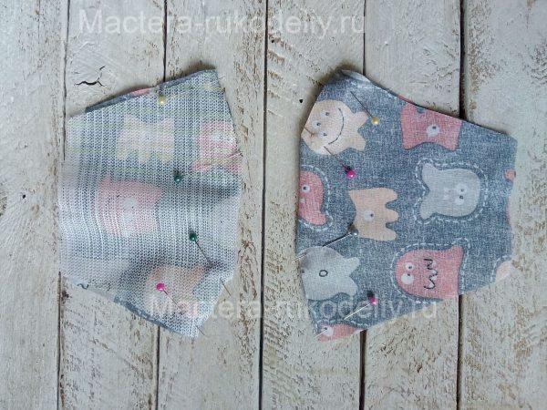 Сколите детали детской маски для лица