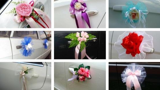 Украшения авто на свадьбу-примеры