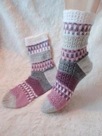 Шерстяные многоцветные носки