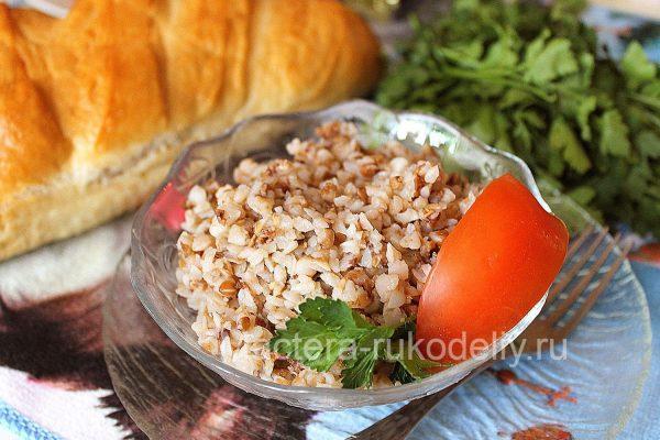Каша из гречки приготовленная в мультиварке